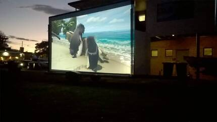Outdoor Cinema Trailer Screen/Sound/Projection-party hire/events