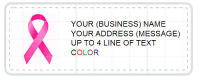 PINK RIBBON 150 Personalized Return/Mailing Address labels/ BREAST CANCER FIGHT](pink ribbon address labels)
