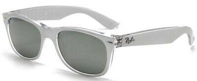 Ray-Ban Damen Herren Sonnenbrille RB2132 6144/40 52mm New Wayfarer silber S I4 H