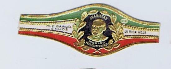 Jurists M. P. Garcia La Rica Hoja Mexico para Mexicanos cigar band #231