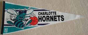 NBA pennants (Philadelphia Sixers + old Charlotte Hornets)