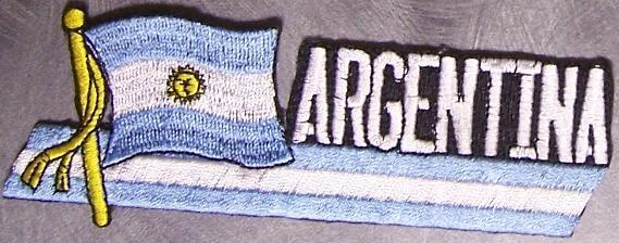Embroidered International Patch National Flag of Argentina NEW streamer