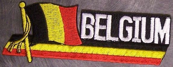 Embroidered International Patch National Flag of Belgium NEW streamer