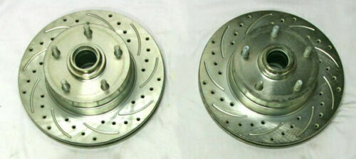 """Mopar Drilled 11"""" Front Disc Brake Rotors 5"""" x 4.5"""" Bolt Pattern Dodge Chrysler"""