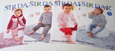 Lot of 4 Sirdar knitting yarn patterns BABY Birth to 3 yrs SWEATERS and BLANKETS