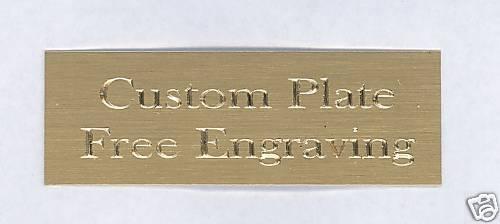 Custom Engraved Plate art-trophy-Taxidermy 1x3 Brass FREE ENGRAVING