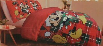DISNEY Christmas Mickey Mouse Bettwäsche Duvet Cover Set King 230 x 220 cm NEU