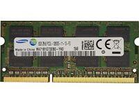 Samsung 8GB, 204-pin SODIMM, DDR3 PC3L-12800s, 1600MHz RAM Memory