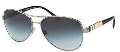 Burberry Damen Herren Sonnenbrille BE3080 1003/8G 59mm Pilot Gunmetal schwarz H