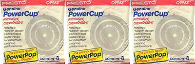 Microwave Powerpop 09964 Replacement Popcorn Concentrator Presto  3 Packs Of 8