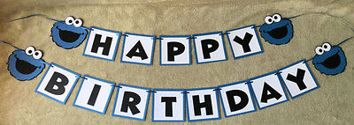 Happy Birthday Banners Personalized (Cookie Monster Happy Birthday banner. Can be)