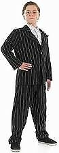 BOYS GANGSTER /GOMEZ ADDAMS FAMILY / BUGSY MALONE OUTFIT AGE 6/8 YEARS HALLOWEEN PARTY