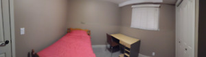 2 furnished rooms in a nice basement suite for students