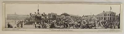 LONG BEACH PIER Panorama Print: Pleasure Seekers, 1910?