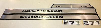 Massey Ferguson 271 Hood Decals