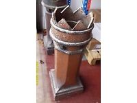 Stainless steel Fire pit & King Crown Chimney pot