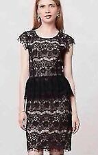 MAUVE ANTHROPOLOGIE BLACK LACE DRESS BNWOT