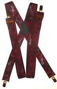 Mens Red Suspenders