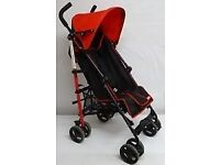 Fisher Price black and red pushchair
