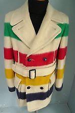 Vintage Men's Hudson Bay Blanket Coat (1965)