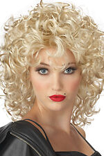 GREASE Great sandy last scene blonde curly wig fancy dress 1st class
