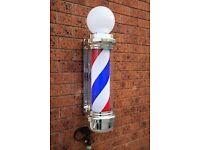 Sign Light Barber Pole LED Pole Salon Sign Light Red White 100 cm Large For Barber shops And Salon