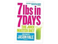 Jason Vale books and wall planner - 7lbs in 7 days and Turbo-charge your life in 14 days