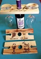 handcrafted wine and shot carriers