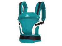 manduca baby sling - petrol blue with box and instructions