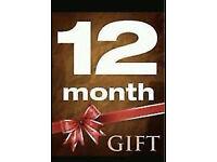 CABLE BOX VM 1 YEAR LINE GIFT SKYBOX/MAG BOX/ZGEMMA