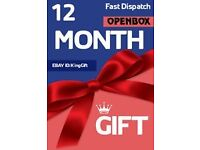 12 months gift for UK/ROI viewing Access