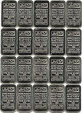 J & M  1 OZ SILVER # IN SEQUENCE-C112264 to C112283** 1  OZ SILVER BARS-PACK OF 20- E TRANSFER-SHIP CANADA ONLY-