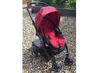 Oyster buggy with buggyboard pram pushchair with raincover