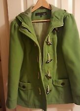 Women's Green Coat with toggles