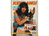 KERRANG MAGAZINES (EARLY 90'S) - ISSUES 261 TO 560