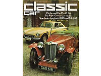 CLASSIC & THOROUGHBRED / CLASSIC CAR MAGAZINE. EVERY MAGAZINE FROM OCTOBER 1973 TO OCTOBER 2014