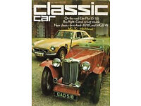 CLASSIC & THOROUGHBRED / CLASSIC CAR MAGAZINES. EVERY MAGAZINE FROM OCTOBER 1973 TO OCTOBER 2014