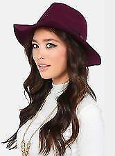 Women's from S&S Eden Barbara Burgundy 100% Wool Fedora Hat