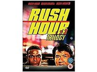 RUSH HOUR TRILOGY BOX SET 3 DVDS GREAT CONDITION