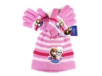 Girls ( Official ) Disney Princess Elsa Hat and Gloves ( New with Tags )