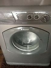 21 Hotpoint WD420 5+5kg 1200Spin Silver Washer/Dryer 1 YEAR GUARANTEE FREE DEL N FIT