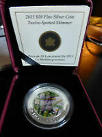 2013 Silver Hologram Background Dragon Fly Series first coin.