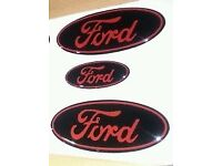 FORD FOCUS RS - ST -MK2 AND MK3 PRE-FACELIFT ONLY GEL BADGE OVERLAYS SET OF 3 - WILL NOT FIT NON ST