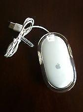 Apple Macintosh Mac M5769 Wired USB Mouse, White/Clear  USED
