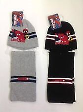 Boys Official Disney Spiderman Hat and Scarf Sets ( New with Tags )