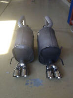 Factory dual quad tip exhaust. Used from 06 corvette Z51