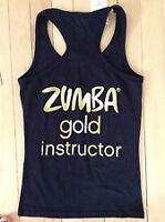 ZUMBA  Pure Gold 'Instructor' Black Tank top -  sz. xxl