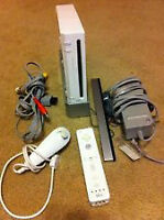 NINTENDO Wii WITH Wii REMOTE AND Wii SPORTS GAME
