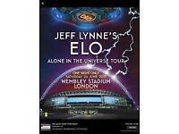 Jeff Lynne's ELO Tour Tickets X2. Saturday 24th June. Wembley. Block 528 Row 20 £80