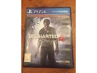 Uncharted 4 for PS4. Mint condition. Also swap for No man's sky or GTA V